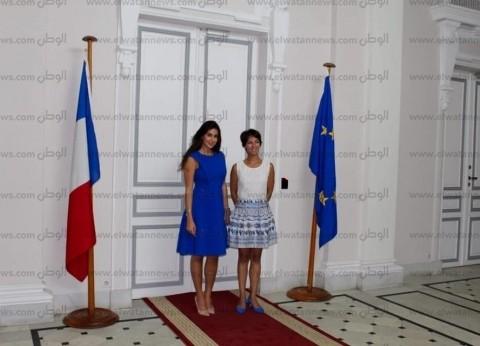 ياسمين صبري في زيارة لقنصلية فرنسا بالإسكندرية