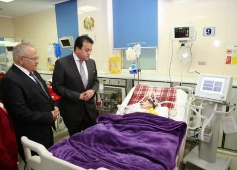 وزير التعليم العالي يتفقد مستشفى أبو الريش الياباني للأطفال