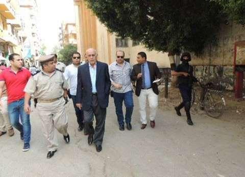 مدير أمن المنيا يتفقد مجمع المحاكم والحماية المدنية والمفرقعات