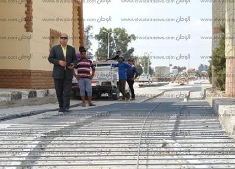 بالصور| مساعد محافظ كفر الشيخ يتابع رفع كفاءة مدخل المدينة