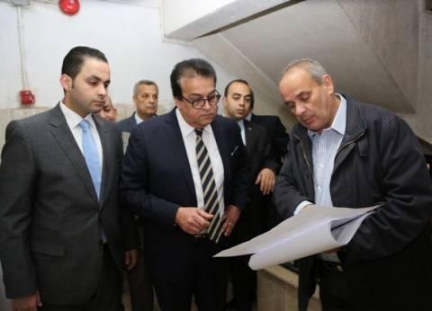 وزير التعليم العالي يتفقد المقر الإداري للوزارة بمدينة نصر