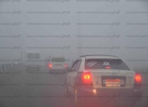 إغلاق طريق السويس الصحراوي لمدة ساعة بسبب انعدام الرؤية