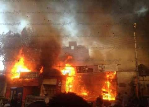 الدفع بـ 11 سيارة إطفاء للسيطرة على حريق بمحطة وقود في الشرقية
