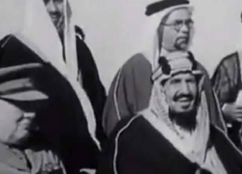 تداول فيديو نادر يجمع عبدالعزيز آل سعود وتشرشل في مصر