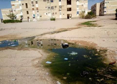 بالصور  أهالي توشكى بطور سيناء يعانون من طفح الصرف الصحي