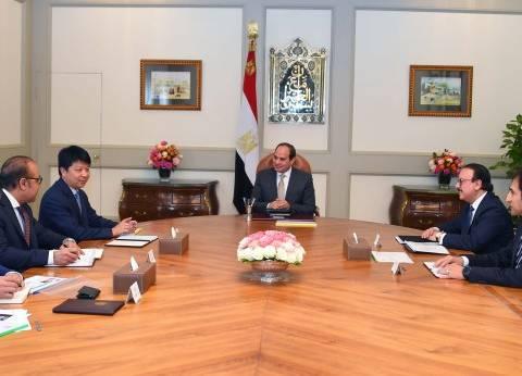 """السيسي يستقبل رئيس """"هواوي"""" لبحث تطوير مشروعات الشركة في مصر"""