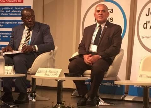 """وزير الري يترأس جلسة """"معالجة الصرف الصحي"""" في الأسبوع العالمي للمياه"""