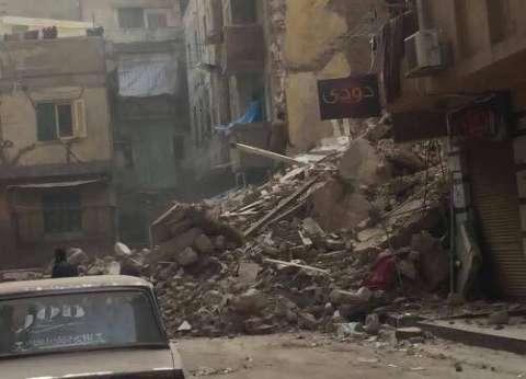 انهيار عقار خالي من السكان ببحري في الإسكندرية