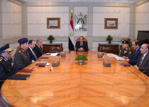 السيسي يوجه الحكومة بمتابعة الموقف الأمني بعد التفجير الإرهابي بالكنيسة البطرسية