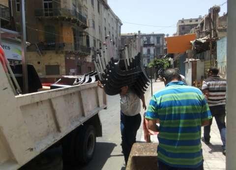 إزالة 115 حالة إشغال طريق في قوص بقنا