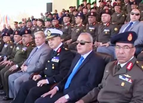 تخرج الدفعة 152 من الضباط الاحتياط بحضور محافظ السويس ووزير الدفاع