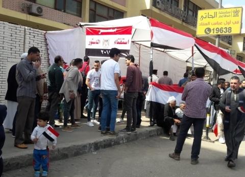 توافد المواطنين على لجان مدينة نصر للاستفتاء على التعديلات الدستورية