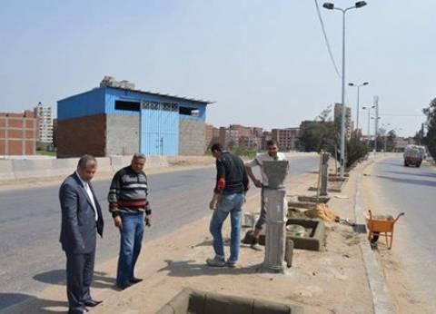رئيس مدينة المحلة يعلن البدء في تطوير الطريق الدائري واستكمال الميادين
