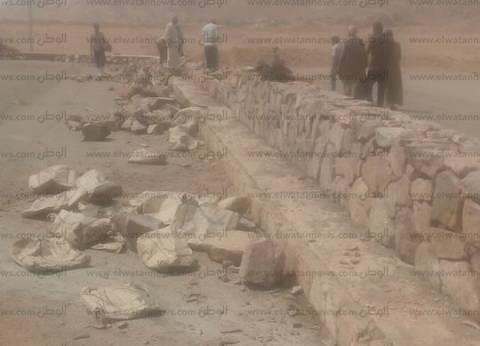 بالصور| بدء مشروع تطوير مدخل دير سانت كاترين بجنوب سيناء
