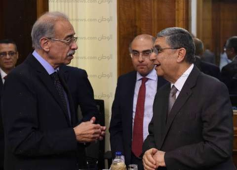 """""""إسماعيل"""" و""""شاكر"""" يبحثان آليات تطوير قطاع الكهرباء"""