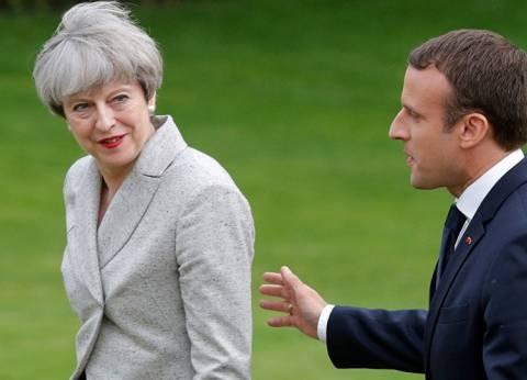 بريكست في قلب لقاء بين ماكرون وماي الجمعة في فرنسا
