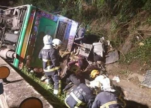 مقتل 28 سائحًا في انقلاب حافلة بتايوان