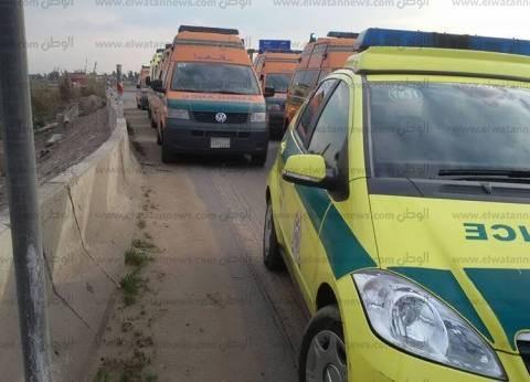 """""""الصحة"""": 10 مصابين في حادث انقلاب أتوبيس بالإسكندرية"""