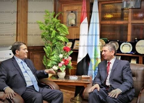 بالصور| محافظ كفر الشيخ يستقبل رئيس العاصمة الإدارية