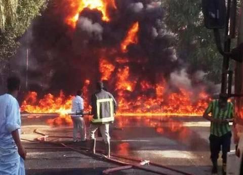 محافظ أسوان يشكل لجنة لحصر خسائر حريق محطة وقود بإدفو