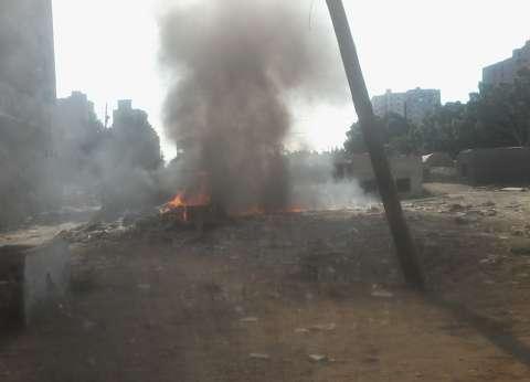 إخماد حريق في حظيرة مواشي شمال بني سويف