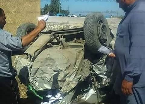 إصابة 6 أشخاص في حادث انقلاب سيارة بالغردقة