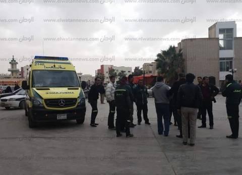 إصابة 3 ضباط في حادث انقلاب سيارة على طريق العريش الدولي