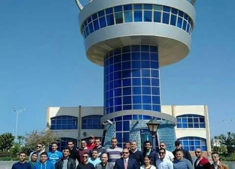 ميناء دمياط يستقبل وفدا من الأكاديمية العربية للعلوم والتكنولوجيا