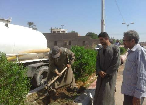 حملة نظافة بشوارع جهينة في سوهاج