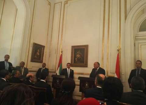 سامح شكري: بحثنا مع وزير خارجية الإمارات التحديات في المنطقة