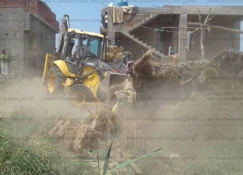 إزالة 55 حالة تعدي على أملاك الدولة بمنطقة ترعة السلام بالدقهلية