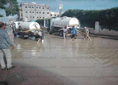 غلق بوغاز البرلس لسوء الطقس وهطول أمطار في كفر الشيخ