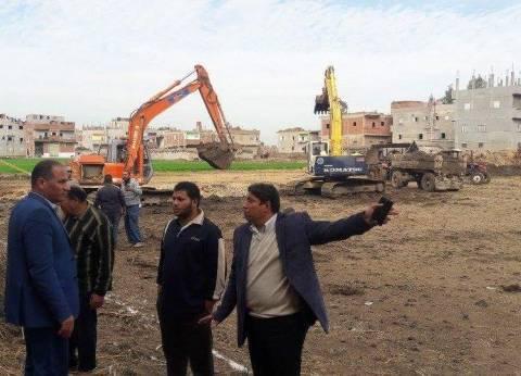 بدء أعمال إنشاء مدرسة إسماعيل عبده الابتدائية بعزبة جابر في دمياط