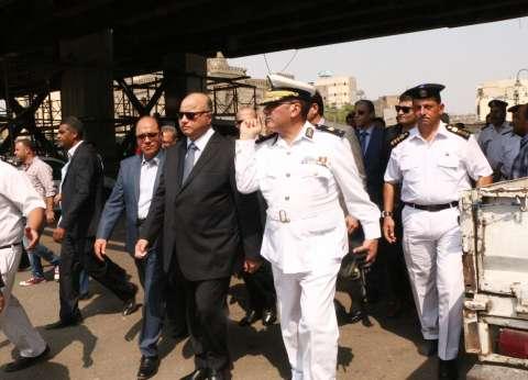 محافظ القاهرة يتفقد أعمال تطوير بكوبري وميدان السيدة عائشة