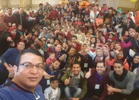 """الفنان أحمد شيبة يشارك فريق """"شباب إسكندرية"""" في تنظيم حفل للأيتام"""