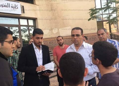 رئيس جامعة المنصورة يتفقد مطعم المدينة الجامعية للطلاب قبل الإفطار