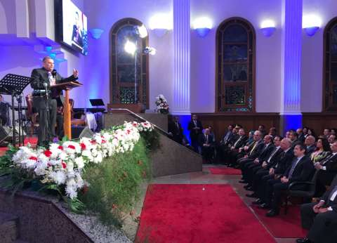 بدء احتفال الطائفة الإنجيلية بعيد القيامة بحضور مندوب الرئاسة