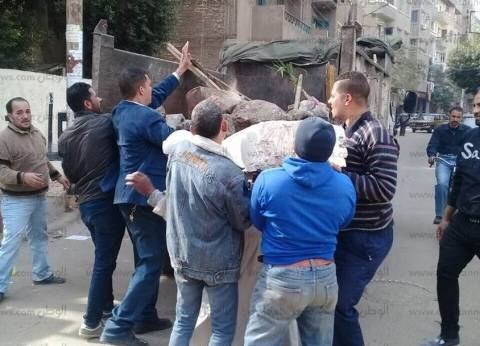"""محافظة أسيوط تشن حملة لإزالة حواجز """"الركنة"""" من الشوارع والميادين"""