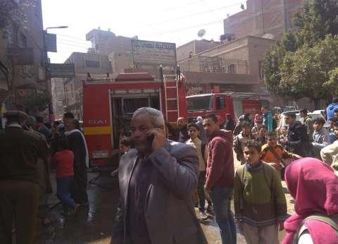 بالصور  السيطرة على حريق بجوار الإدارة التعليمية بقليوب
