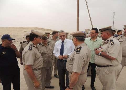 مدير أمن المنيا يتفقد دير جبل الطير بسمالوط