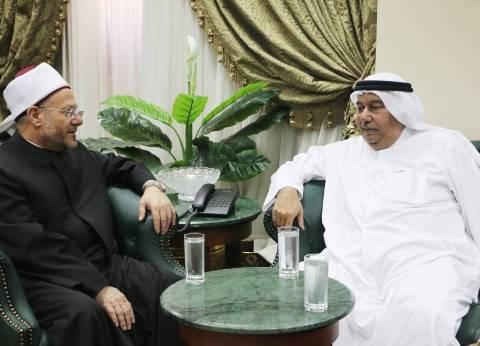 المفتي يستقبل السفير الكويتي بالقاهرة لبحث أوجه تعزيز التعاون الديني