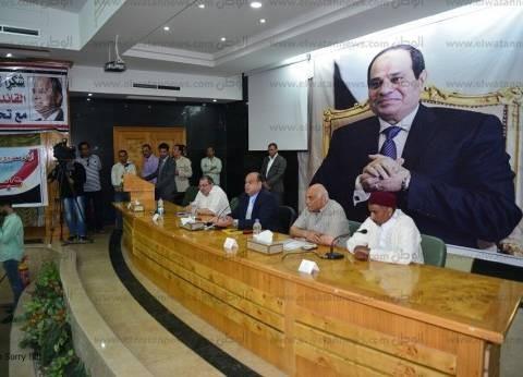 """""""أبوزيد"""" يناقش استرداد أراضى الدولة مع شباب مطروح"""