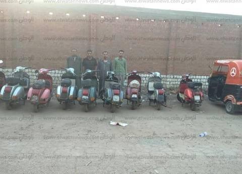 القبض على تشكيل عصابي من 4 عاطلين لسرقة الدراجات النارية في القليوبية