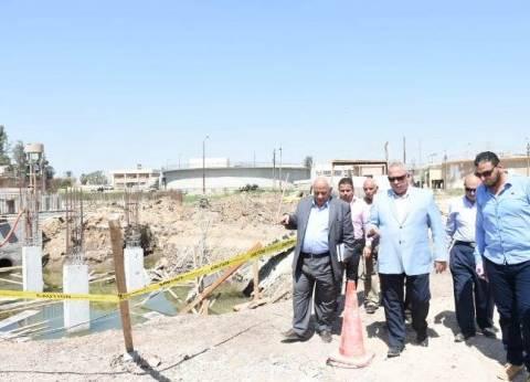 محافظ الشرقية يتابع مشروع إحلال وتجديد وتوسعات محطة مياه العباسة