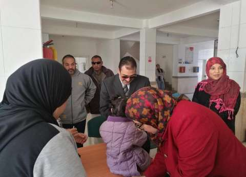وكيل وزارة الصحة بالسويس يتابع حملات التطعيم ضد شلل الأطفال