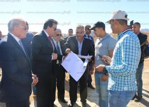 وزير التعليم العالي يتفقد العمل بفرع جامعة الملك سلمان بشرم الشيخ