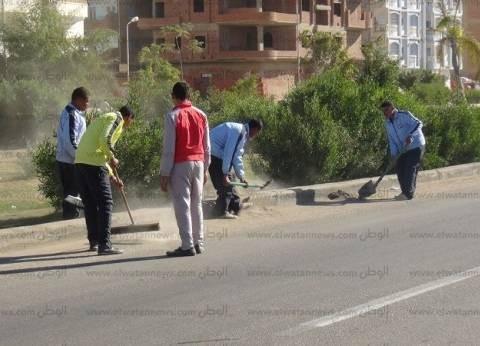 بالصور| الجيش الثالث الميداني يساهم في نظافة وتجميل شوارع السويس