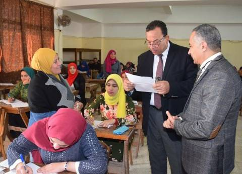"""رئيس جامعة المنوفية ونائباه يتفقدون امتحانات """"الاقتصاد المنزلي"""""""