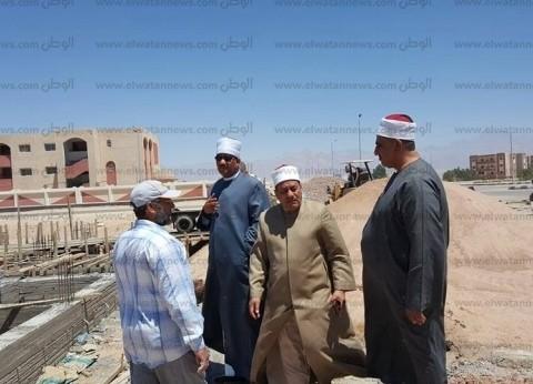 """وكيل """"الأوقاف"""" يتفقد أعمال الإنشاء بمسجد الروضة في جنوب سيناء"""