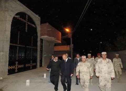 """مدير أمن مطروح وقيادات القوات المسلحة يتفقدون كنيسة """"العذراء"""""""